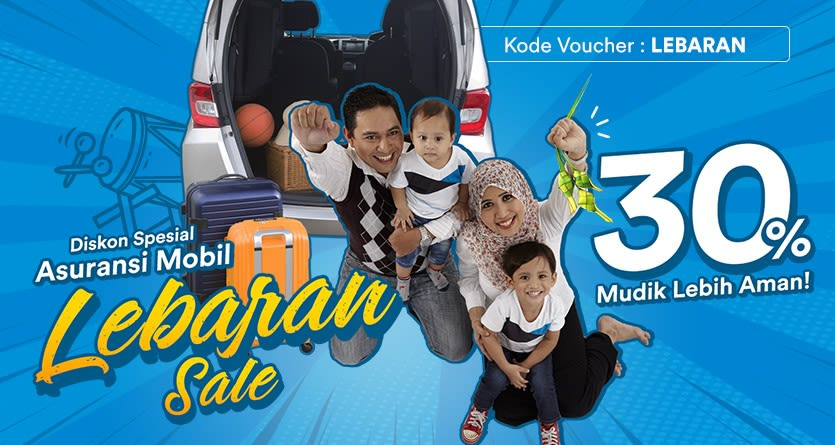 Lebaran Sale - Diskon 30% Asuransi Mobil