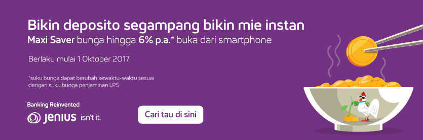 Jenius Maxi Saver Mobile