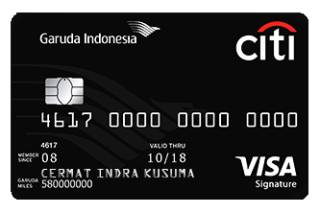Kartu Kredit Garuda Indonesia Citi Card Cermati Com